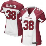 Camiseta Arizona Cardinals Ellington Blanco Rojo Nike Game NFL Mujer