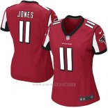 Camiseta Atlanta Falcons Jones Rojo Nike Game NFL Mujer(1)