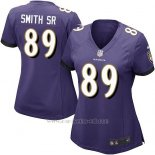 Camiseta Baltimore Ravens Smith Sr Violeta Nike Game NFL Mujer