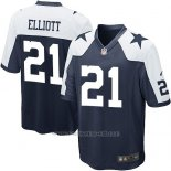 Camiseta Dallas Cowboys Elliott Negro Blanco Nike Game NFL Nino