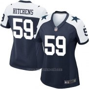 Camiseta Dallas Cowboys Hitchens Negro Blanco Nike Game NFL Mujer