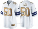 Camiseta Dallas Cowboys Lee Blanco Nike Gold Game NFL Hombre
