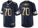 Camiseta Dallas Cowboys Martin Profundo Azul Nike Gold Game NFL Hombre