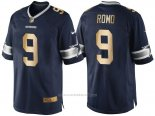 Camiseta Dallas Cowboys Romo Profundo Azul Nike Gold Game NFL Hombre