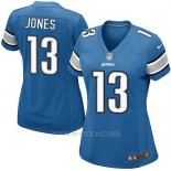 Camiseta Detroit Lions Jones Azul Nike Game NFL Mujer