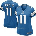 Camiseta Detroit Lions Jones Jr Azul Nike Game NFL Mujer