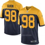 Camiseta Green Bay Packers Guion Negro Amarillo Nike Game NFL Nino