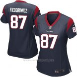 Camiseta Houston Texans Fiedorowicz Negro Nike Game NFL Mujer