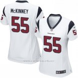 Camiseta Houston Texans McKinney Blanco Nike Game NFL Mujer