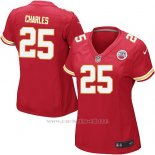 Camiseta Kansas City Chiefs Charles Rojo Nike Game NFL Mujer