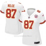 Camiseta Kansas City Chiefs Kelce Blanco Nike Game NFL Mujer