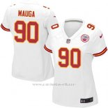 Camiseta Kansas City Chiefs Mauga Blanco Nike Game NFL Mujer