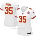 Camiseta Kansas City Chiefs Okoye Blanco Nike Game NFL Mujer
