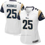 Camiseta Los Angeles Rams Mcdonald Blanco Nike Game NFL Mujer