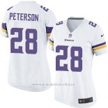 Camiseta Minnesota Vikings Peterson Blanco Nike Game NFL Mujer