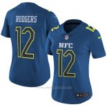 Camiseta NFC Rodgers Azul 2017 Pro Bowl NFL Mujer