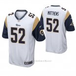 Camiseta NFL Game Hombre St Louis Rams Clay Matthews Blanco
