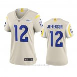 Camiseta NFL Game Mujer Los Angeles Rams Van Jefferson 2020 Marfil