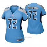 Camiseta NFL Game Mujer Tennessee Titans David Quessenberry Azul Luminoso