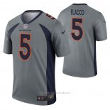 Camiseta NFL Legend Denver Broncos Joe Flacco Inverted Gris