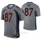 Camiseta NFL Legend Hombre Denver Broncos 87 Noah Fant Inverted Gris