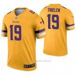 Camiseta NFL Legend Hombre Minnesota Vikings 19 Adam Thielen Inverted Oro
