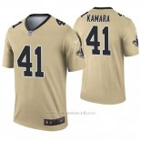 Camiseta NFL Legend Hombre New Orleans Saints 41 Alvin Kamara Inverted Oro