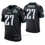 Camiseta NFL Legend Hombre Philadelphia Eagles Malcolm Jenkins Negro Super Bowl Lii Champions Color Rush