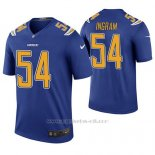 Camiseta NFL Legend Hombre San Diego Chargers Melvin Ingram Azul Color Rush
