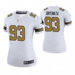 Camiseta NFL Legend Mujer New Orleans Saints David Onyemata Blanco Color Rush