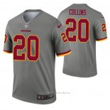 Camiseta NFL Legend Washington Redskins Landon Collins Inverted Gris