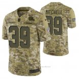 Camiseta NFL Limited Cleveland Browns 39 Terrance Mitchell 2018 Salute To Service Camuflaje