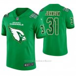 Camiseta NFL Limited Hombre Arizona Cardinals David Johnson St. Patrick's Day Verde