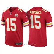 Camiseta NFL Limited Hombre Kansas City Chiefs 15 Patrick Mahomes Rush Legend Rojo