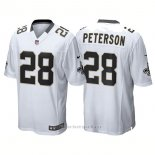 Camiseta NFL Limited Hombre New Orleans Saints 28 Adrian Peterson Game Blanco
