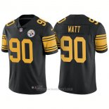 Camiseta NFL Limited Hombre Pittsburgh Steelers 90 T.j. Watt Rush Limited Negro