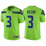 Camiseta NFL Limited Hombre Seattle Seahawks 3 Russell Wilson Vapor Untouchable Rush Limited Verde