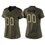 Camiseta NFL Limited Mujer Denver Broncos Personalizada Salute To Service Verde