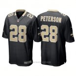 Camiseta NFL Limited Nino New Orleans Saints 28 Adrian Peterson Game Negro