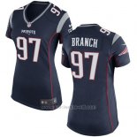 Camiseta New England Patriots Branch Negro Nike Game NFL Mujer