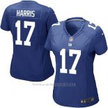 Camiseta New York Giants Harris Azul Nike Game NFL Mujer