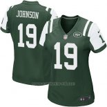 Camiseta New York Jets Johnson Verde Nike Game NFL Mujer