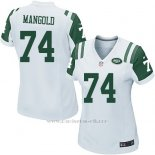 Camiseta New York Jets Mangold Blanco Nike Game NFL Mujer