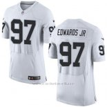 Camiseta Oakland Raiders Edwaros Jr Nike Elite NFL Blanco Hombre
