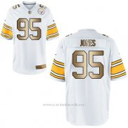 Camiseta Pittsburgh Steelers Jones Blanco Nike Gold Game NFL Hombre
