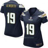 Camiseta San Diego Chargers Alworth Negro Nike Game NFL Mujer