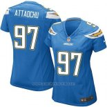 Camiseta San Diego Chargers AttaochuAzul Mujer Nike Game NFL
