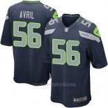 Camiseta Seattle Seahawks Avril Azul Oscuro Nike Game NFL Hombre