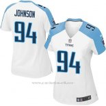 Camiseta Tennessee Titans Johnson Blanco Nike Game NFL Mujer