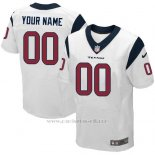 Camisetas NFL Elite Hombre Houston Texans Personalizada Blanco